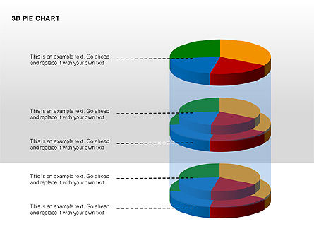 3D Pie Charts with Silhouettes, Slide 13, 00273, Pie Charts — PoweredTemplate.com