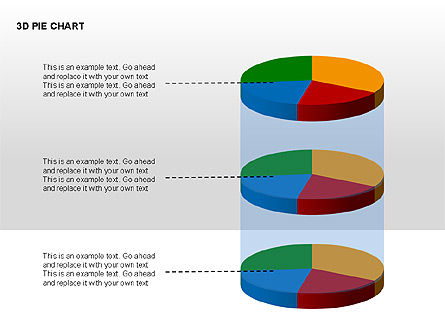 3D Pie Charts with Silhouettes, Slide 6, 00273, Pie Charts — PoweredTemplate.com