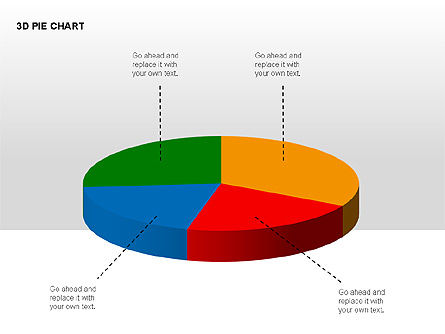 3D Pie Charts with Silhouettes, Slide 8, 00273, Pie Charts — PoweredTemplate.com