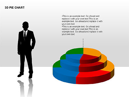 3D Pie Charts with Silhouettes, Slide 9, 00273, Pie Charts — PoweredTemplate.com