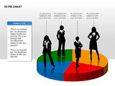 3D Pie Charts with Silhouettes#10