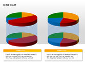 3D Pie Charts with Silhouettes#7