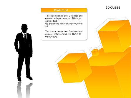 3D Cubes Charts, Slide 10, 00274, Text Boxes — PoweredTemplate.com