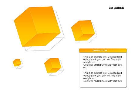 3D Cubes Charts, Slide 11, 00274, Text Boxes — PoweredTemplate.com
