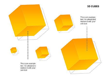 3D Cubes Charts, Slide 14, 00274, Text Boxes — PoweredTemplate.com