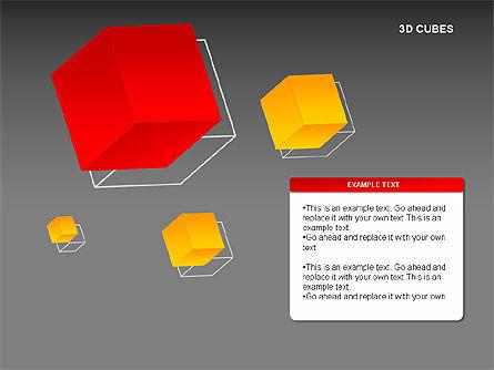 3D Cubes Charts, Slide 15, 00274, Text Boxes — PoweredTemplate.com