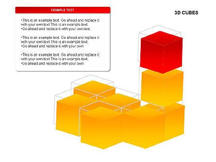 3D Cubes Charts, Slide 16, 00274, Text Boxes — PoweredTemplate.com