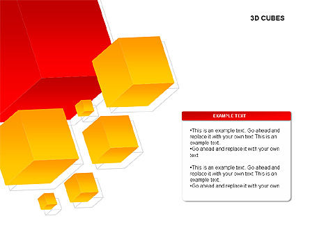 3D Cubes Charts, Slide 2, 00274, Text Boxes — PoweredTemplate.com