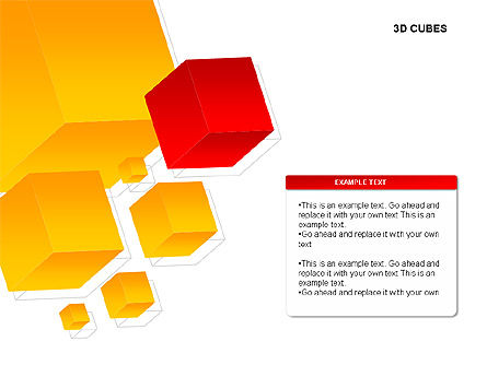 3D Cubes Charts, Slide 3, 00274, Text Boxes — PoweredTemplate.com