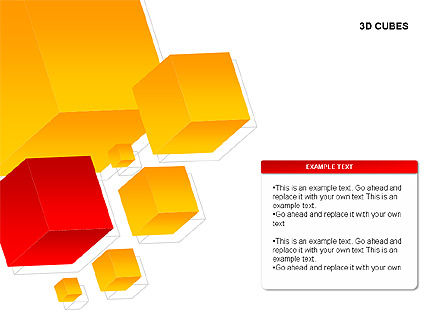 3D Cubes Charts, Slide 4, 00274, Text Boxes — PoweredTemplate.com