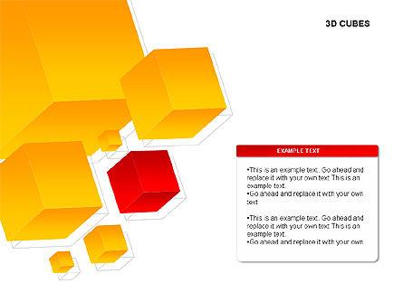 3D Cubes Charts, Slide 5, 00274, Text Boxes — PoweredTemplate.com