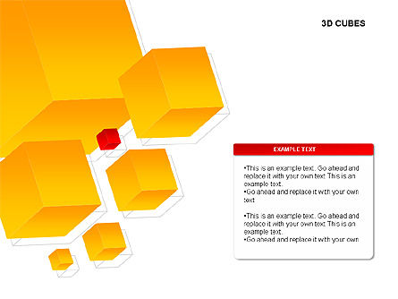3D Cubes Charts, Slide 6, 00274, Text Boxes — PoweredTemplate.com