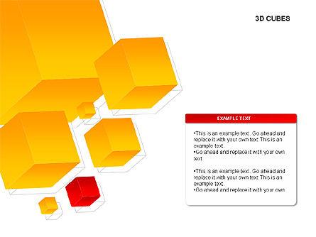 3D Cubes Charts, Slide 7, 00274, Text Boxes — PoweredTemplate.com