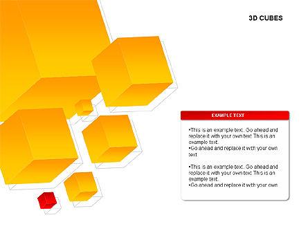 3D Cubes Charts, Slide 8, 00274, Text Boxes — PoweredTemplate.com