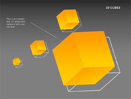 3D Cubes Charts, Slide 9, 00274, Text Boxes — PoweredTemplate.com