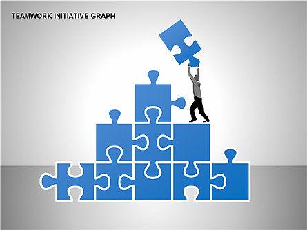 Teamwork Puzzles Diagrams, Slide 13, 00275, Puzzle Diagrams — PoweredTemplate.com