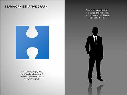 Teamwork Puzzles Diagrams, Slide 2, 00275, Puzzle Diagrams — PoweredTemplate.com