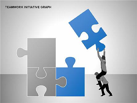 Teamwork Puzzles Diagrams, Slide 3, 00275, Puzzle Diagrams — PoweredTemplate.com