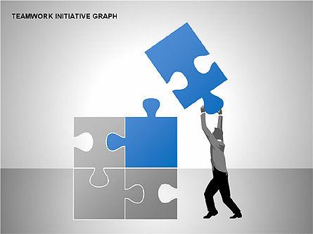 Teamwork Puzzles Diagrams, Slide 4, 00275, Puzzle Diagrams — PoweredTemplate.com
