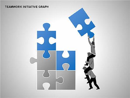 Teamwork Puzzles Diagrams, Slide 5, 00275, Puzzle Diagrams — PoweredTemplate.com