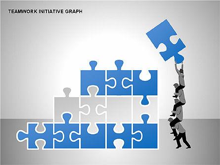 Teamwork Puzzles Diagrams, Slide 6, 00275, Puzzle Diagrams — PoweredTemplate.com