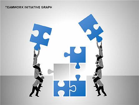 Teamwork Puzzles Diagrams, Slide 7, 00275, Puzzle Diagrams — PoweredTemplate.com
