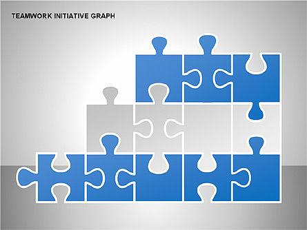 Teamwork Puzzles Diagrams, Slide 8, 00275, Puzzle Diagrams — PoweredTemplate.com