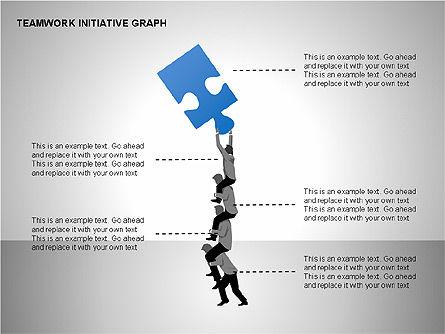 Teamwork Puzzles Diagrams, Slide 9, 00275, Puzzle Diagrams — PoweredTemplate.com