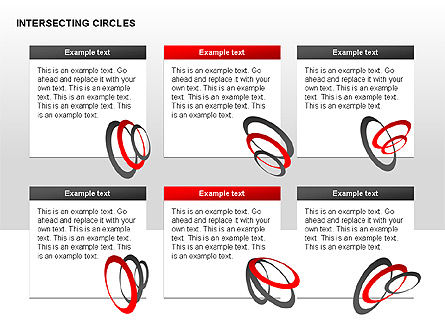 Intersecting Circles Collection, Slide 10, 00279, Shapes — PoweredTemplate.com