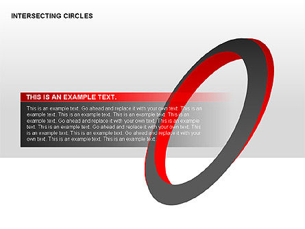 Intersecting Circles Collection, Slide 11, 00279, Shapes — PoweredTemplate.com