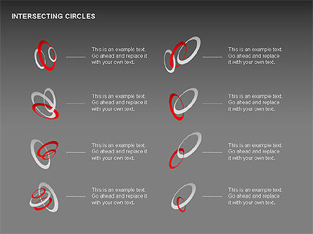 Intersecting Circles Collection, Slide 12, 00279, Shapes — PoweredTemplate.com