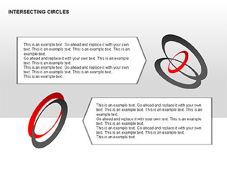 Intersecting Circles Collection, Slide 13, 00279, Shapes — PoweredTemplate.com