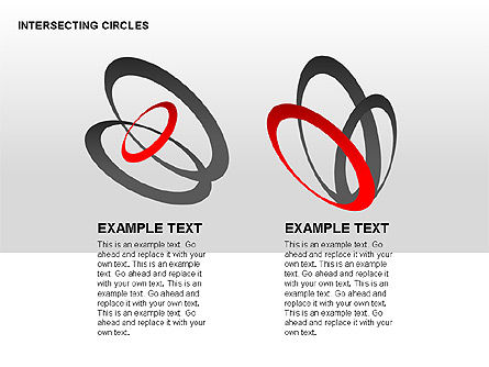 Intersecting Circles Collection, Slide 14, 00279, Shapes — PoweredTemplate.com