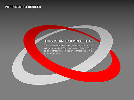 Intersecting Circles Collection, Slide 15, 00279, Shapes — PoweredTemplate.com