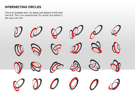Intersecting Circles Collection, Slide 16, 00279, Shapes — PoweredTemplate.com