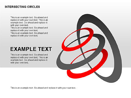 Intersecting Circles Collection, Slide 2, 00279, Shapes — PoweredTemplate.com