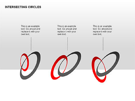 Intersecting Circles Collection, Slide 3, 00279, Shapes — PoweredTemplate.com