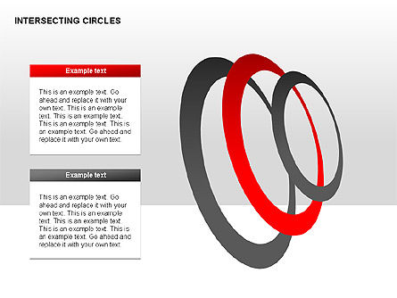 Intersecting Circles Collection, Slide 4, 00279, Shapes — PoweredTemplate.com