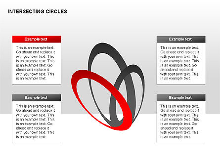 Intersecting Circles Collection, Slide 5, 00279, Shapes — PoweredTemplate.com