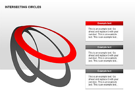 Intersecting Circles Collection, Slide 6, 00279, Shapes — PoweredTemplate.com