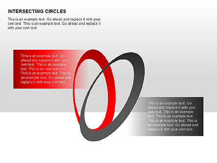 Intersecting Circles Collection, Slide 7, 00279, Shapes — PoweredTemplate.com