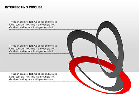 Intersecting Circles Collection, Slide 8, 00279, Shapes — PoweredTemplate.com