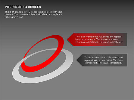 Intersecting Circles Collection, Slide 9, 00279, Shapes — PoweredTemplate.com