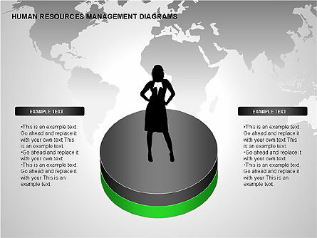 Human Resources Management Diagrams, 00281, Pie Charts — PoweredTemplate.com