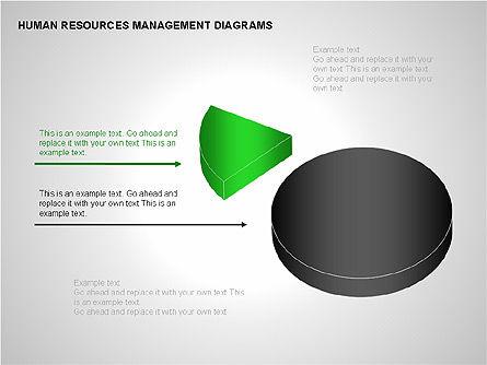 Human Resources Management Diagrams, Slide 13, 00281, Pie Charts — PoweredTemplate.com