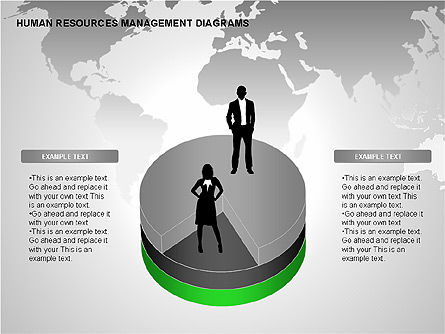 Human Resources Management Diagrams, Slide 3, 00281, Pie Charts — PoweredTemplate.com