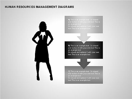 Human Resources Management Diagrams, Slide 4, 00281, Pie Charts — PoweredTemplate.com