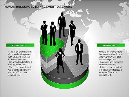 Human Resources Management Diagrams, Slide 8, 00281, Pie Charts — PoweredTemplate.com