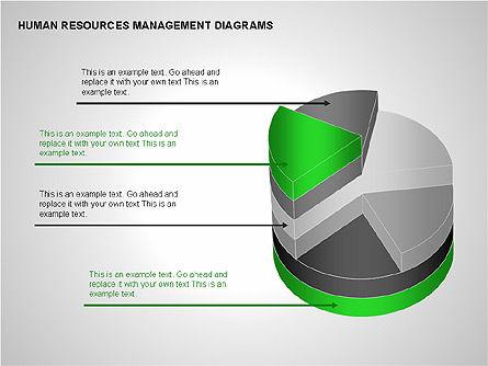 Human Resources Management Diagrams, Slide 9, 00281, Pie Charts — PoweredTemplate.com