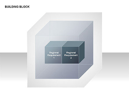Transparent Building Block Diagrams, Slide 10, 00283, Matrix Charts — PoweredTemplate.com